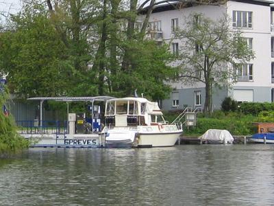 Die Tankstelle im alten Spreearm bei Köpenick ist wieder in Betrieb