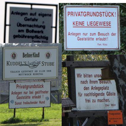 Schilderwald in Dolgenbrodt