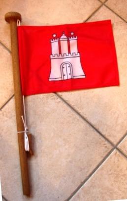 Die stolze Flagge der Hansestadt - bald am Bug der Anna Karenina!