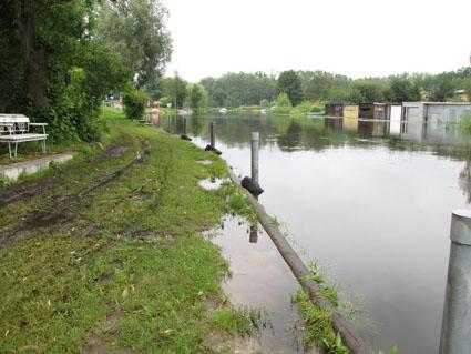 Havel-Hochwasser bei Burgwall