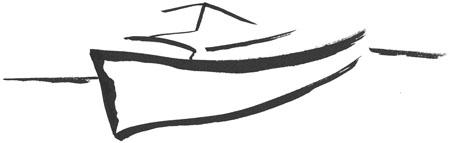 Das japanische Schriftzeichen für Boot (von Eileen Dreher)