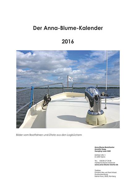 Der Anna-Blume-Kalender 2016